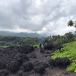 Black Sand Cliffs at Wai'anapanapa State Park